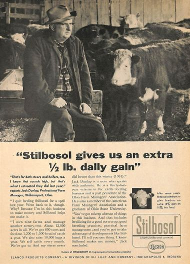 1961 Stilbosol advertisement (credit: https://www.flickr.com/photos/diethylstilbestrol/18741664696)
